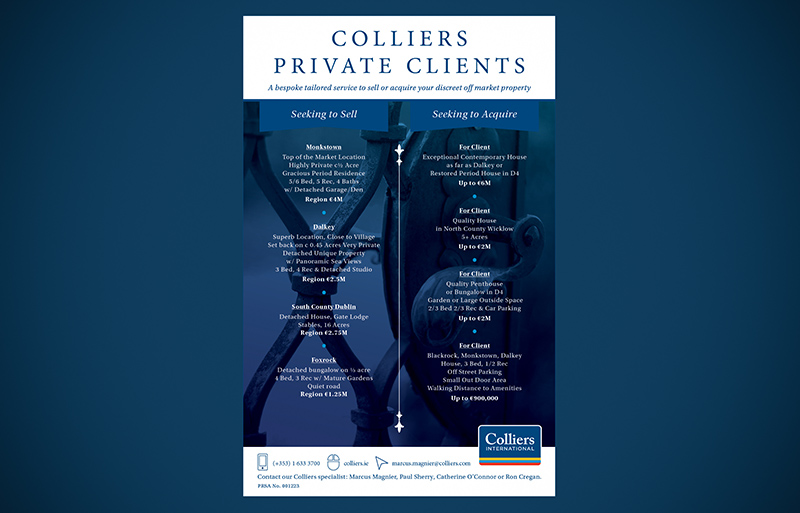 Colliers Private Clients advertising campaign