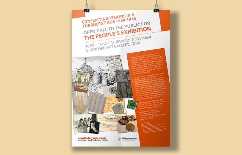 Crawford Art Gallery poster design