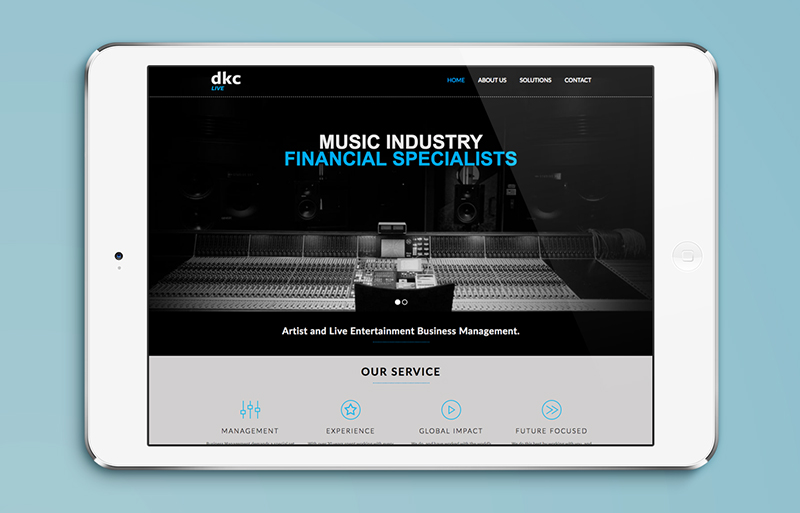 DKC Live website design