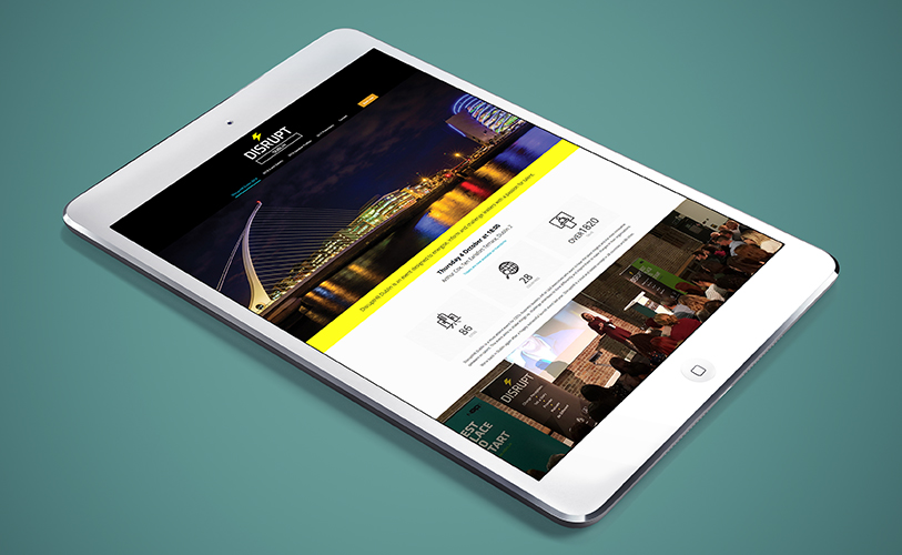 DisruptHR Website design
