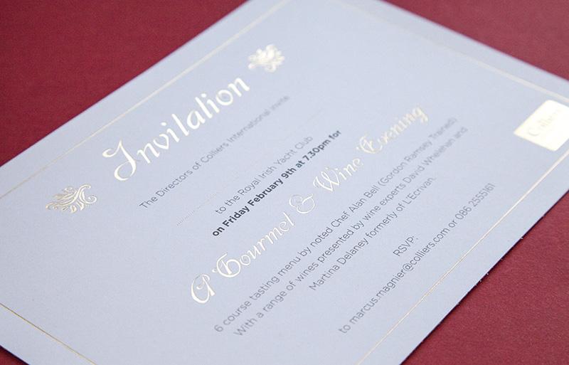Gold foil invitation design
