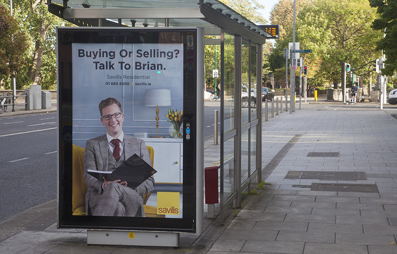 Residential Property ad campaign bus stop advertising