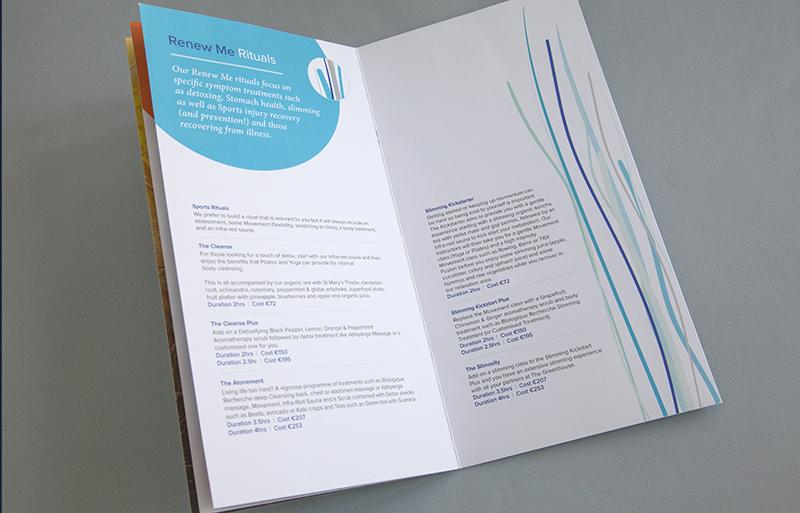 The Greenhouse Rituals Brochure design
