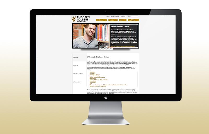 The Open College website design