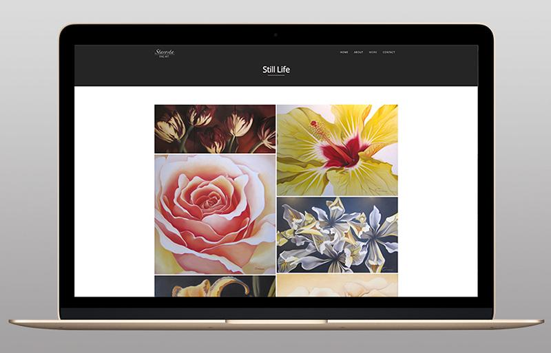 Starosta fine art website design