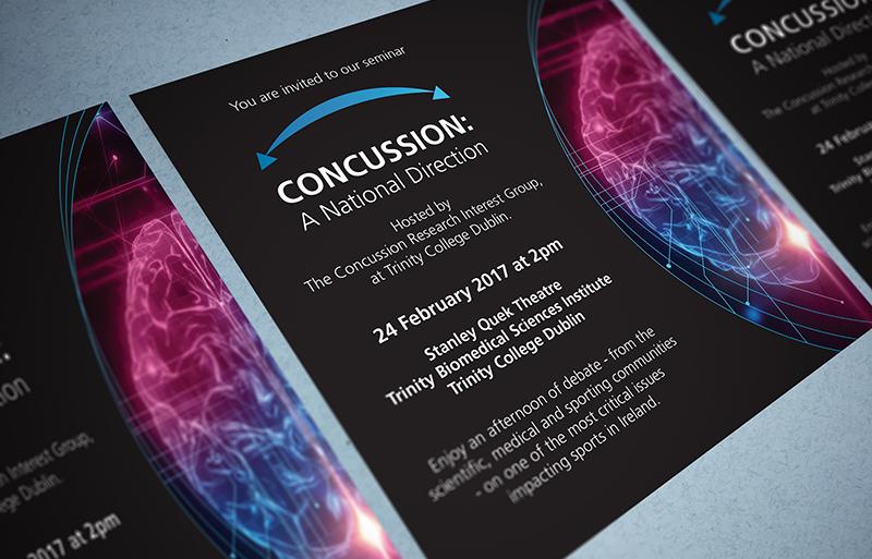 concussion seminar invite design