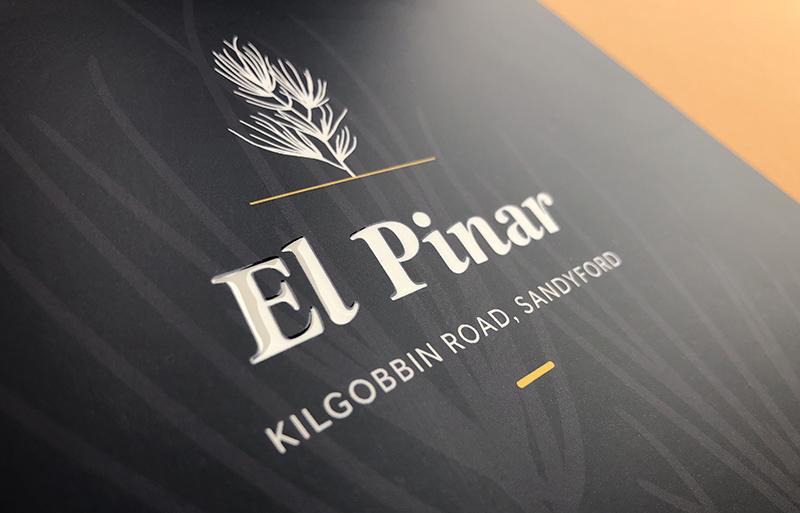 El Pinar brochure design