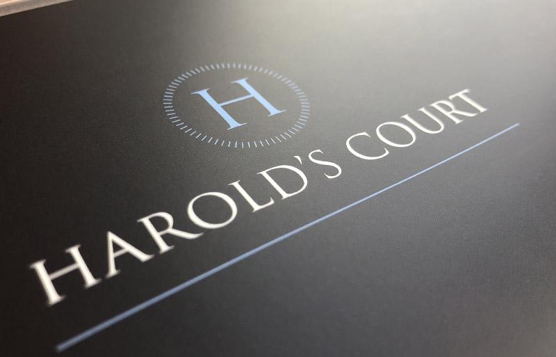 Harold's Court brochure design