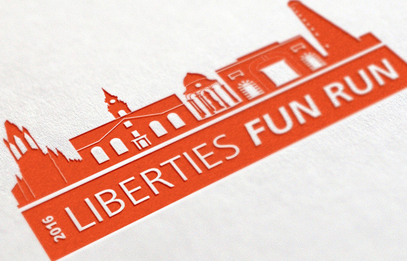 Liberties Fun Run campaign design