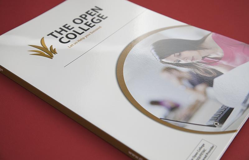 The Open College folder design