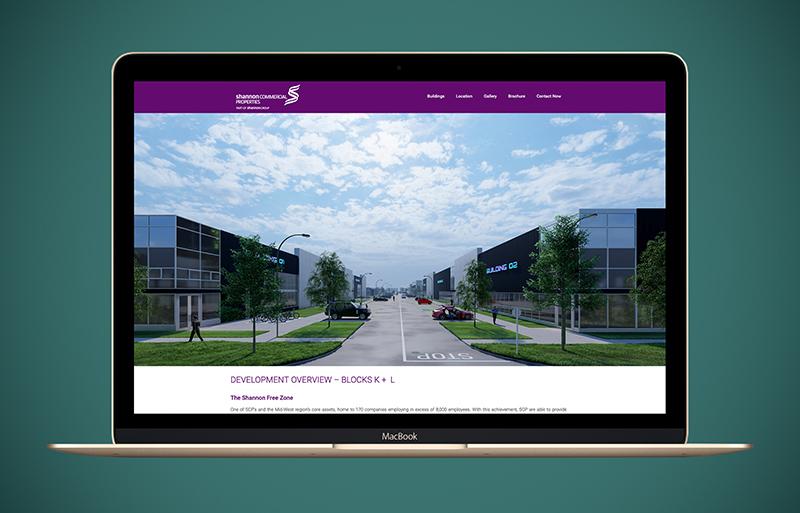 Shannon Free Zone website design