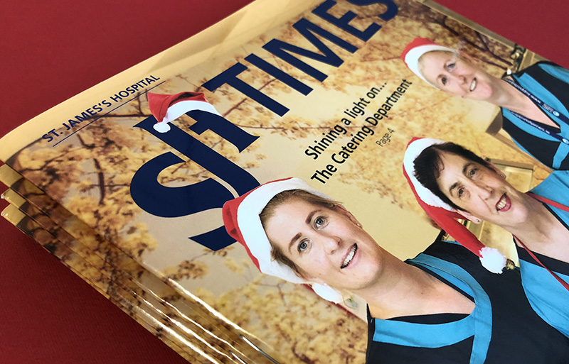 SJH Times Winter 2017 magazine design