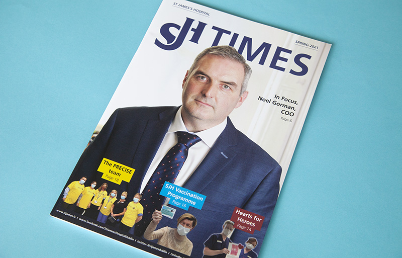 SJH Times Spring 2021 magazine design