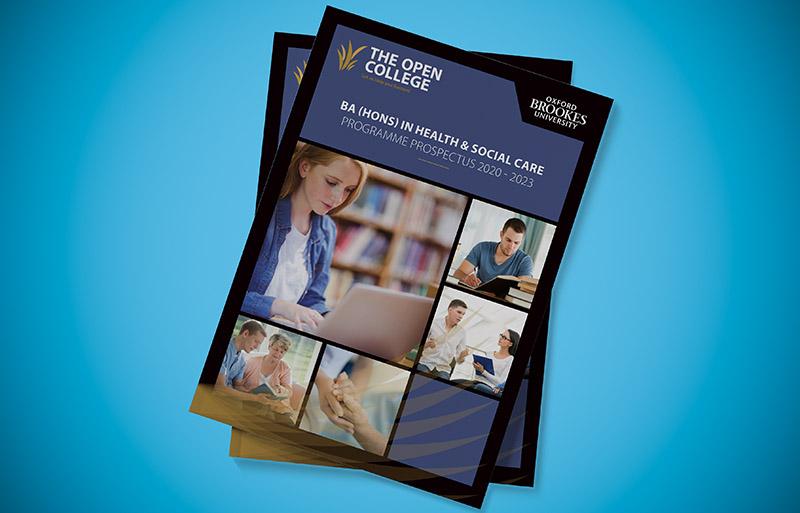 Health and Social Care Prospectus design
